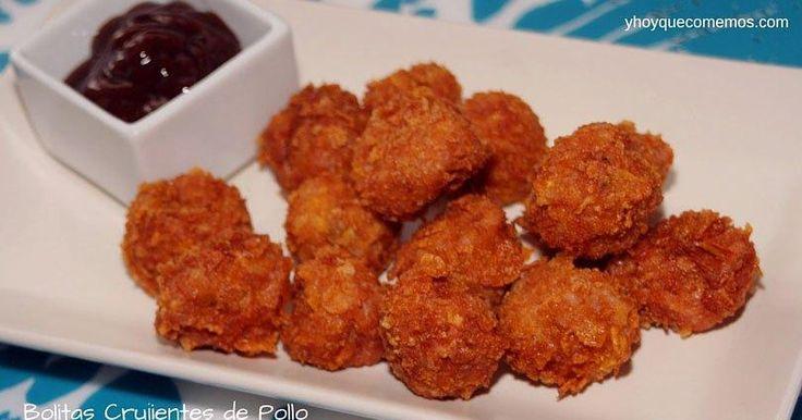 Bolitas crujientes de pollo, ¡acompáñalas con salsas!