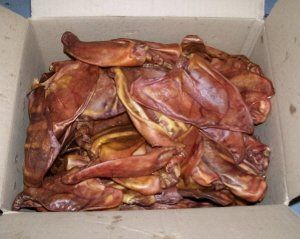 HDP Pig Ears 100 count Made in USA - http://www.thepuppy.org/hdp-pig-ears-100-count-made-in-usa/