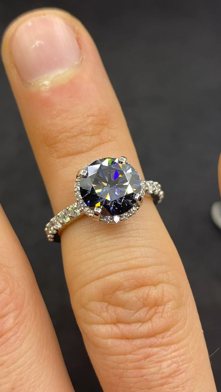 Colored Engagement Rings, Dream Engagement Rings, Classic Engagement Rings, Gemstone Engagement Rings, Round Diamond Engagement Rings, Engagement Ring Settings, Delicate Engagement Ring, Sapphire Wedding Rings, Silver Wedding Rings