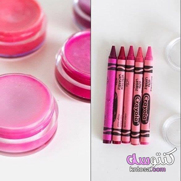 طريقة عمل الروج الثابت في البيت روج مش بيتمسح طريقة صنع الروج Lipstick Beauty Crayola