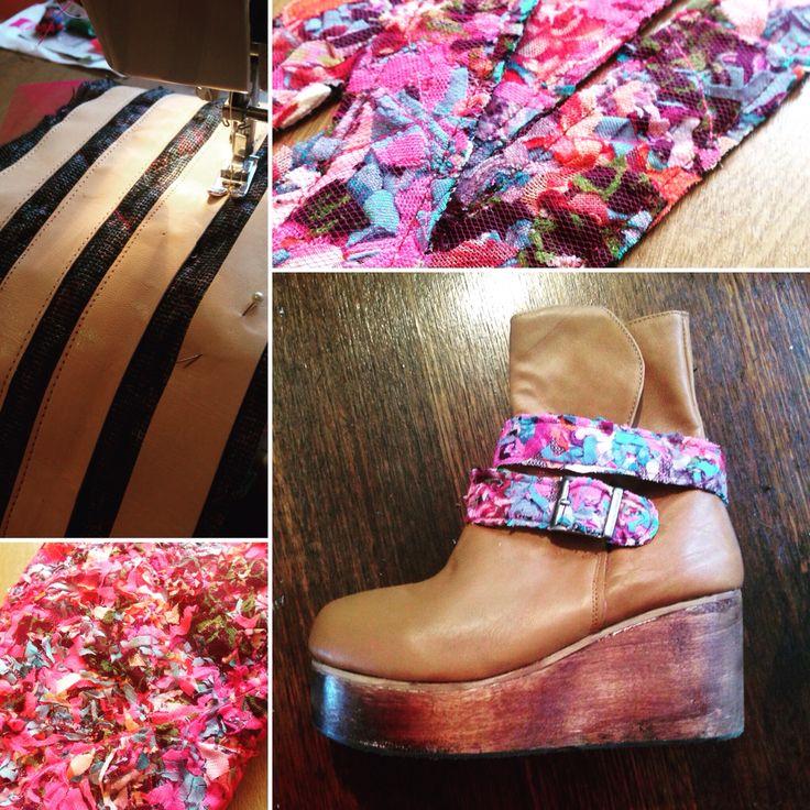 Toda parte de un zapato tiene su proceso de fabricación  Botines realizados 100% a mano...