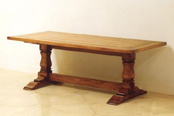 Rustic refectory dining table - French provincial style in Sydney, Australia