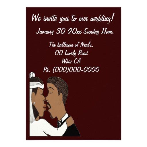 American Wedding Invitations: 272 Best African American Wedding Invitations Images On