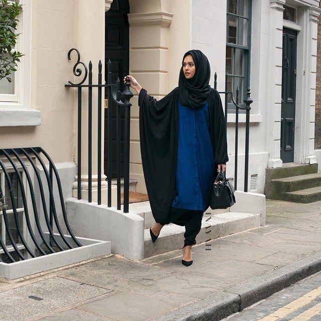 INAYAH | Black Cascade Cardigan | Royal Blue Shirt Dress | Black Modal Hijab | #shirt #Hijab #black #cascade #dress #dresses #islamicfashion www.inayahcollection.com #modestfashion #modesty #modeststreestfashion #hijabfashion #modeststreetstyle #modestabayas #modestdresses #ootd #cardigan #springfashion #INAYAH