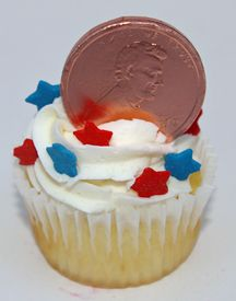 Lucky Penny Cupcakes For President's Day