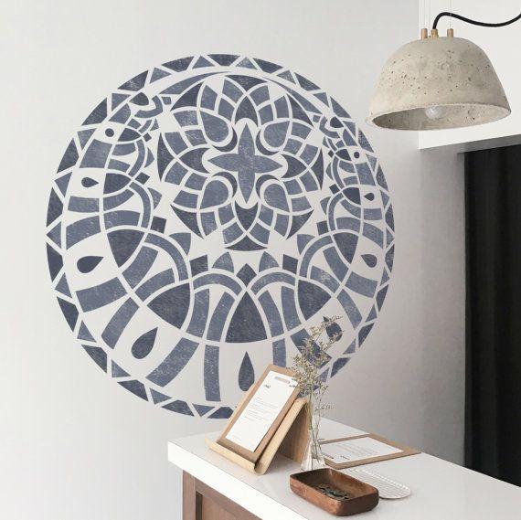 Geometric Medallion Stencil - Medallion Stencil - Mandala Stencil - Furniture Stencil - Wall Painting Stencils