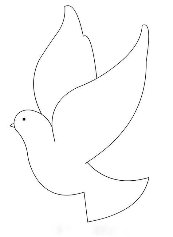 Шаблоны птичек на открытку