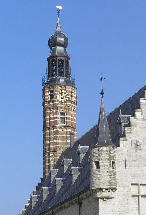 Belfry of Old Town Hall / Cloth Hall, Herentals, Flanders Region, Belgium