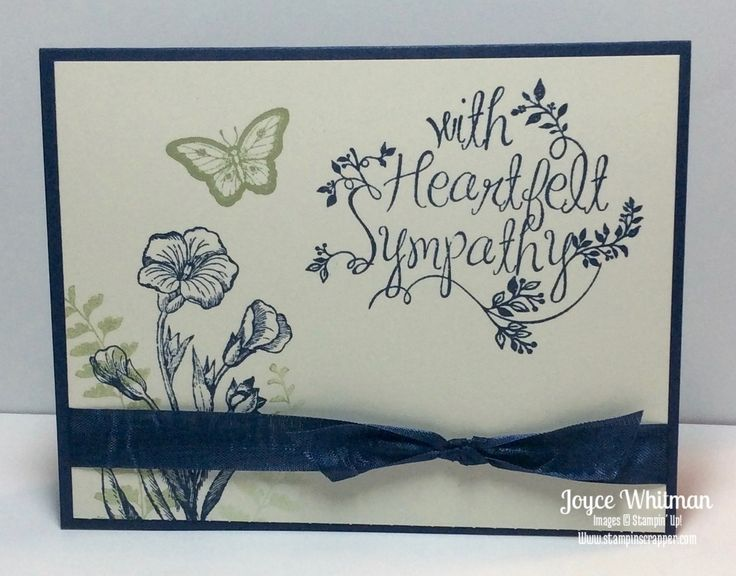 Sympathy cards stamp sets and stampin up on pinterest