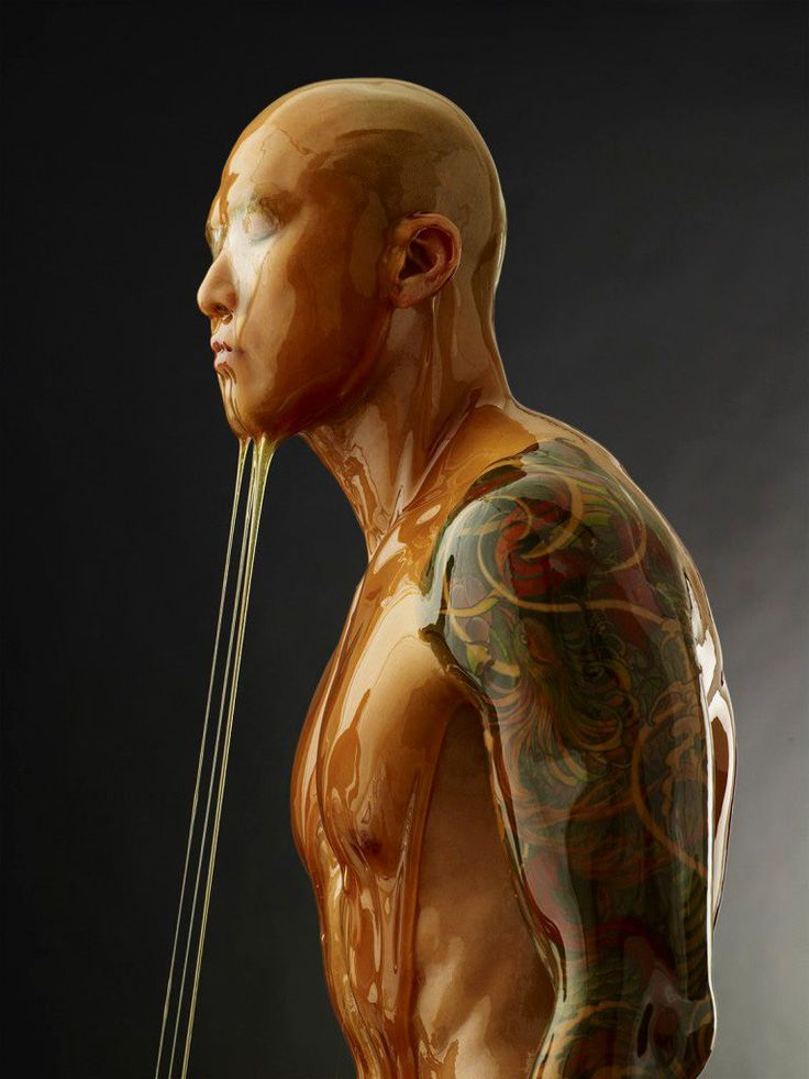 Photographer Blake Little takes photos of people dipped in honey. Strange but cool - somehow.