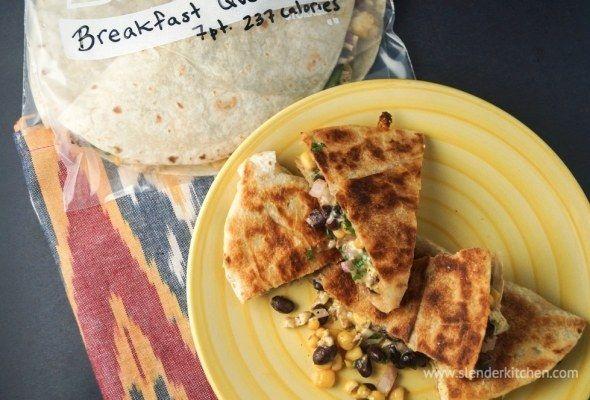 Frozen Breakfast Quesadillas   28 Easy & Healthy Breakfasts You Can Eat On-The-Go