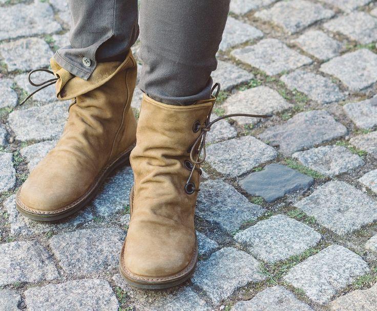 Trippen Tramp Damen Stiefelette Ankle Boot Lace-up Schnürstiefelette mittelbraun