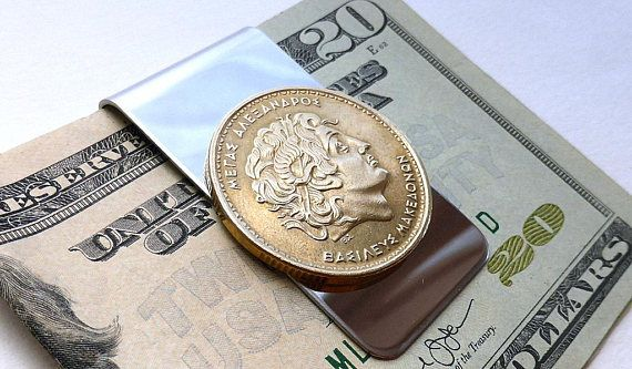 Greek coin money clip Alexander the Great Macedonian
