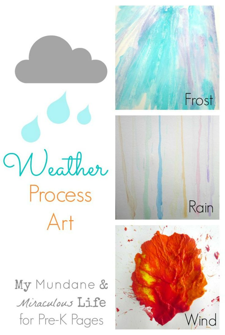 Unit study colors preschool - 3 Fun Process Art Activities For A Weather Theme In Your Preschool Classroom