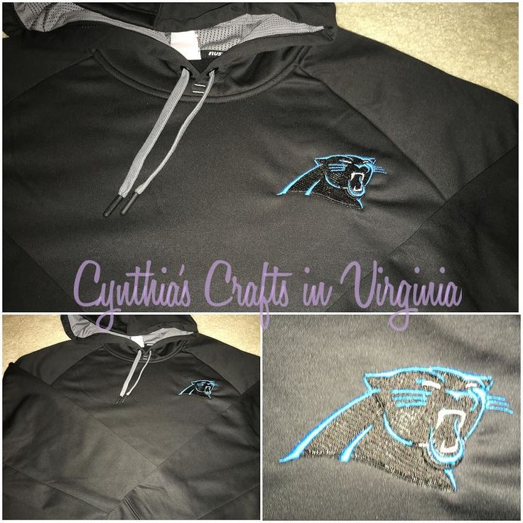 Embroidered NC Panthers on a hoodie...inquiry about prices sizes and colors. #embroidery #embroidered #nfl #ncpanthers #panthersnation #panther #nc #nflhoodie #hoodie #personalizedhoodie #customizedhoodie #personalized #personalization #cynthiascraftsinvirginia @nfl @modells #sportclothes #friendsgift
