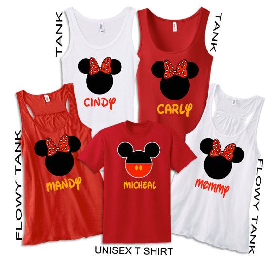 Personalize Disney Mickey and Minnie Family Vacation Tshirt,Flowy Tank Disney Shirt, Disneyland T shirt, Birthday Shirt