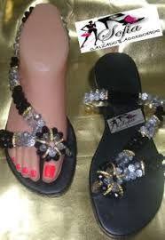 Resultado de imagen para sandalias tejidas con piedras de cristal