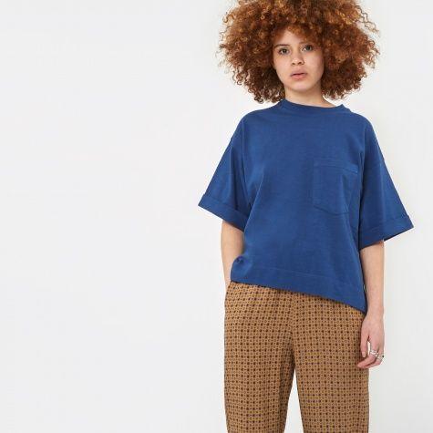 Roll Up Sleeve T-Shirt - Blue