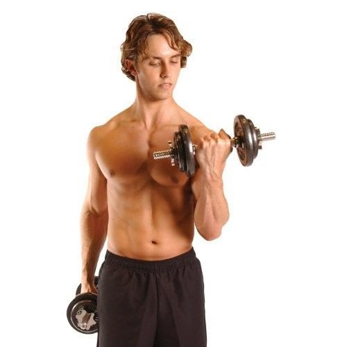 Adjustable Dumbbell Set 40 Pound Plates Collars Storage Case Ergonomic Grips  #CAPBarbell