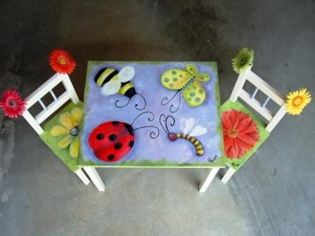 more painted chairs                                                                                                                                                      More