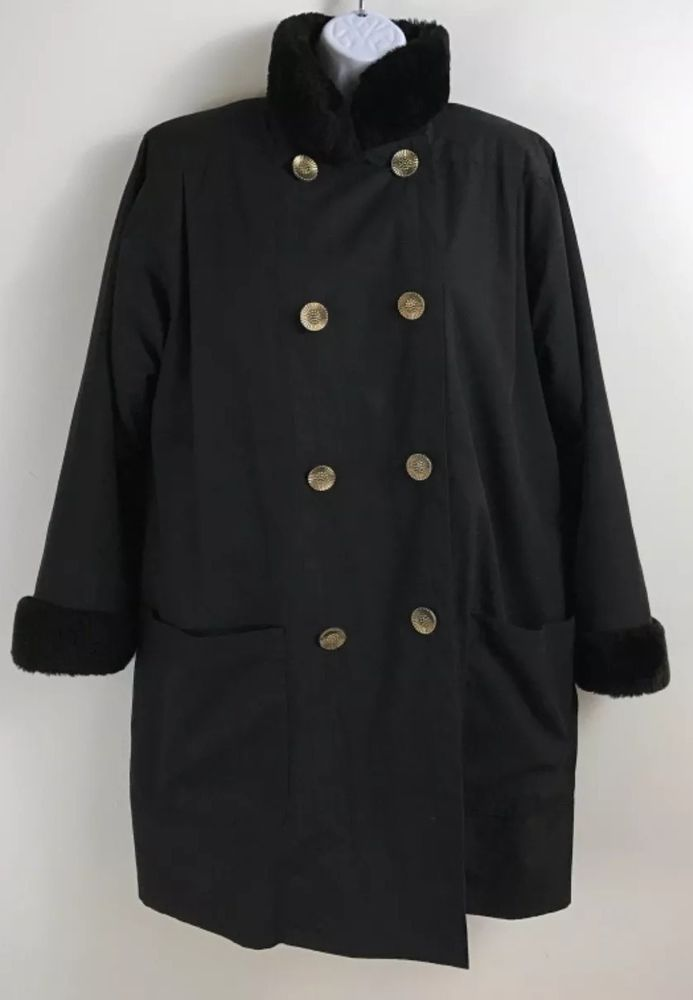 1a99e6fc3de Vintage 70 Yves Saint Laurent Fourrures YSL Black Fur-Lined Womens Coat US  LARGE #fashion #clothing #shoes #accessories #womensclothing  #coatsjacketsvests ...