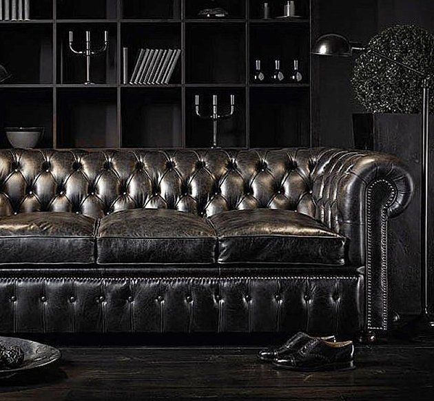 (52) Fancy - The Chesterfields 1780 William Blake Leather Couch