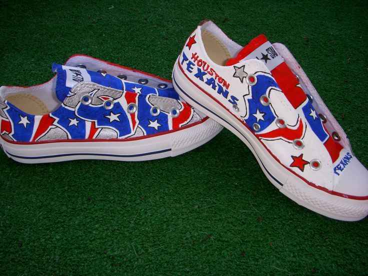 Houston Texans shoes Find me at www.facebook.com/vulpinecandy to order yours! or email me at vulpinecandy@gmail.com