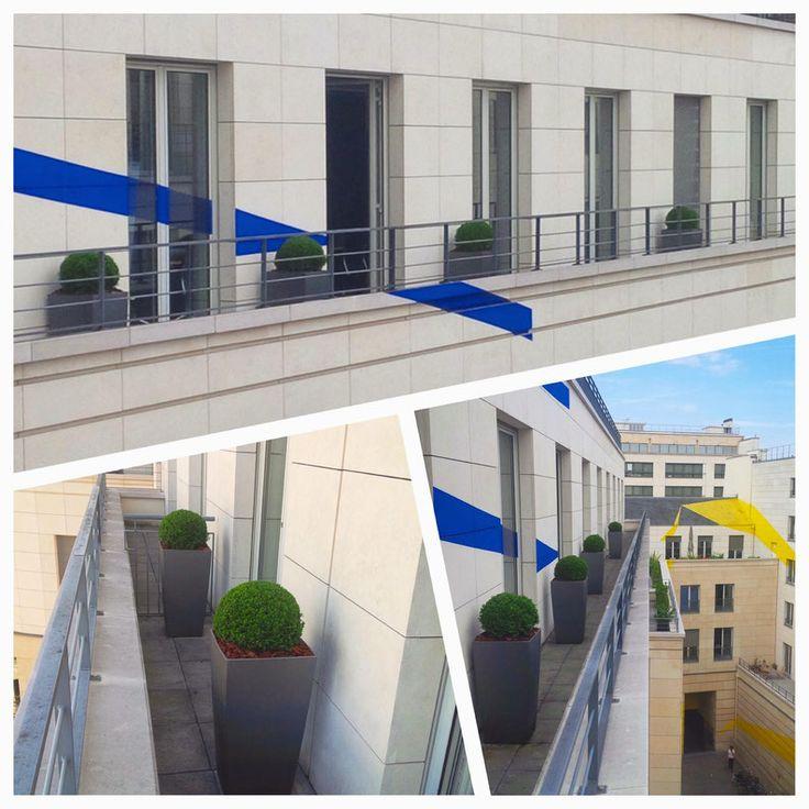 Aménagement de terrasse pour le siège Parisien d'une société financière Britannique. plus de projets sur www.d-plantes.fr