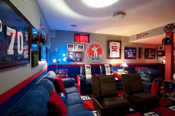 NY Giants Themed Man Cave   Man Caves   Pinterest   Men Cave, Cave And Man  Caves