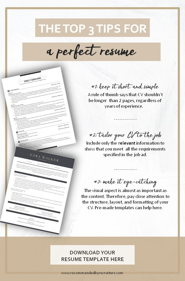 Top Tips for Perfect Resume CV Writing Advice by