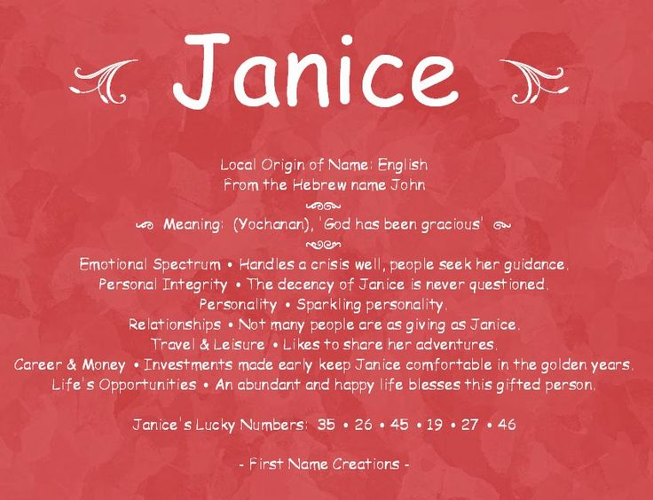 Janice Name Meaning Love This How True This Is Mama
