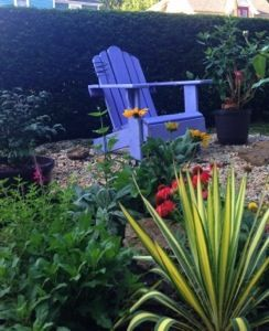 #Painting #Adirondack Chairs: Before & After Color Makeover #DIY #beforeandafter #lilac #landscaping