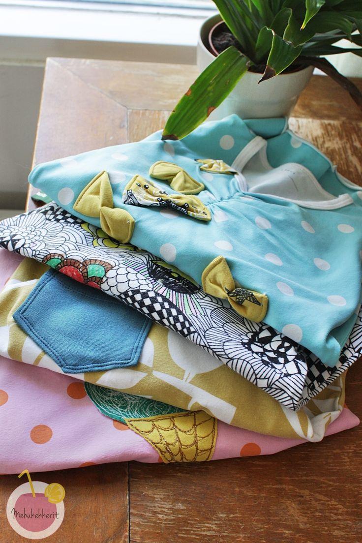Vaatteiden paikkailua luovasti kierrätysmateriaaleista