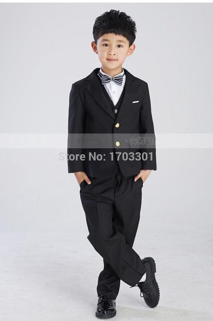 2015 полноценно черный костюм мальчика детская одежда мальчика костюм хозяина осень снаряжение Мальчиков Наряд Для Свадьбы