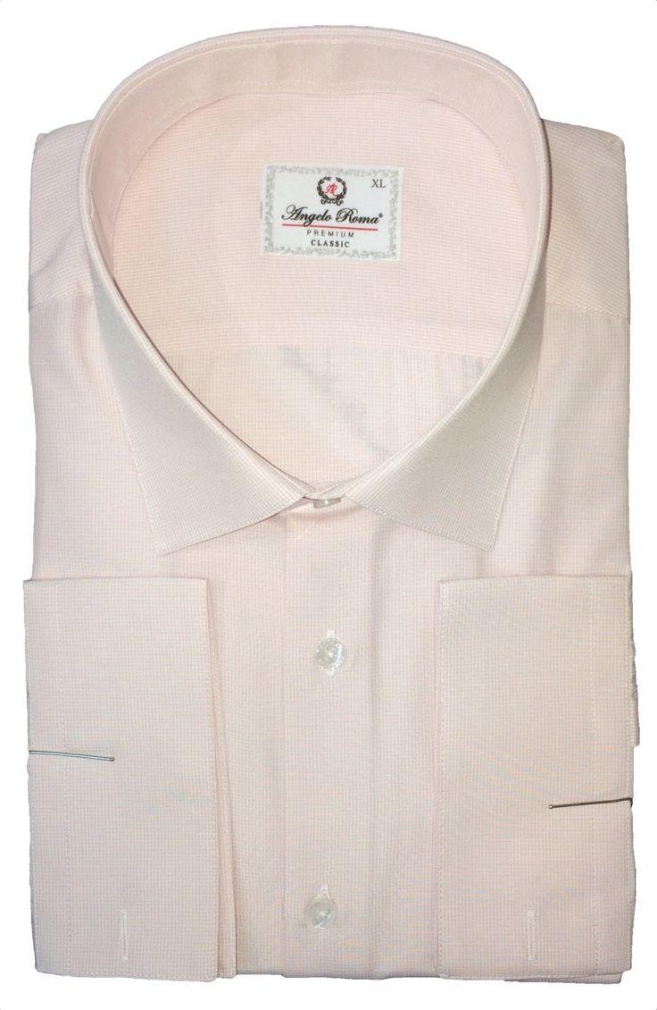 Розовая рубашка в мелкую клетку