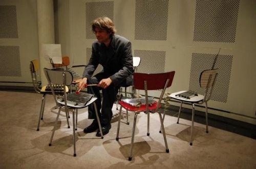 Musical chairs by Max Vandervorst #rareandstrangeinstruments #homemade instruments #diy #instruments #music