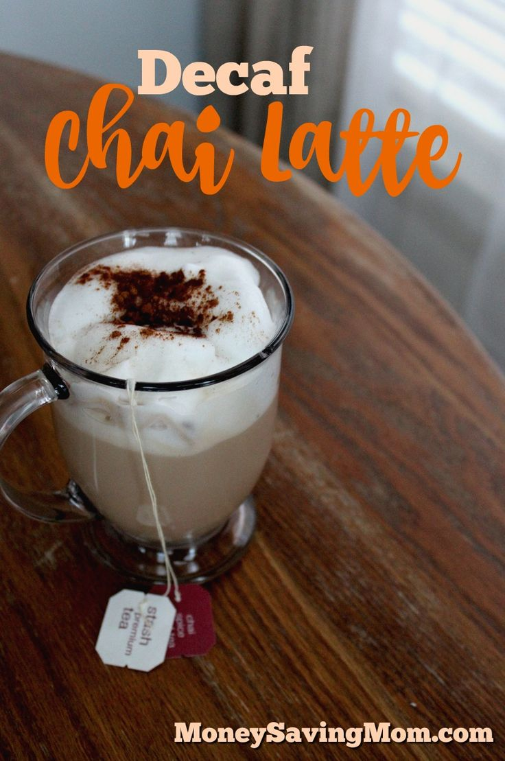 Trying to cut coffee or caffeine? Try this decaf chai latte recipe! It's amazing!!