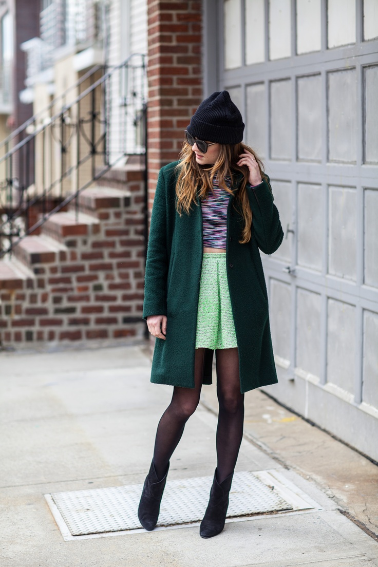 The Bright Side New York City Fashion And Personal Style Blog Knit Beanie Wool Coat Cropped