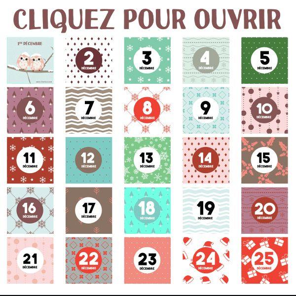 Cliquez pour ouvrir le calendrier de l'avent, et partagez chaque jour le calendrier de l'Avent sur votre mur !  www.merci-facteur.com   #calendrier #decembre #calendrierdelavent #hiver #noel #neige #chouette #calendar r #december #winter #christmas #snow #owl #adventcalendar
