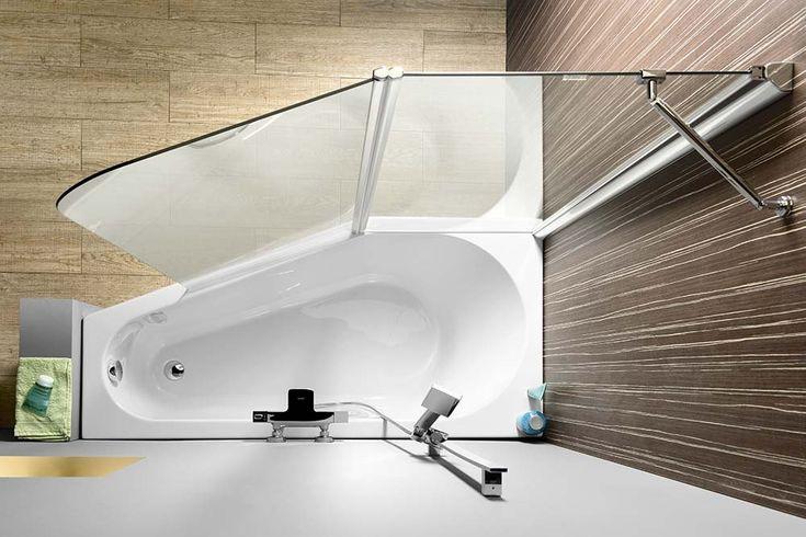 PALOMA vanová zástěna 1200mm, čiré sklo, SAPHO E-shop