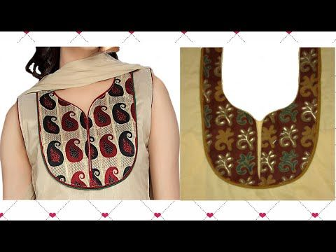 How To Cut And Stitch Designer Neck Line With Double Piping - YouTube