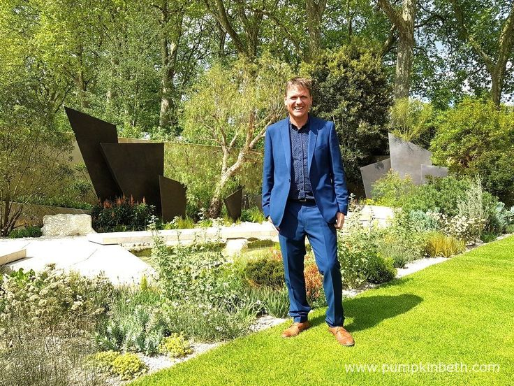 Andy Sturgeon pictured in The Telegraph Garden, which was awarded a Gold Medal and the coveted award of Best in Show, by the RHS judges, at The RHS Chelsea Flower Show 2016.