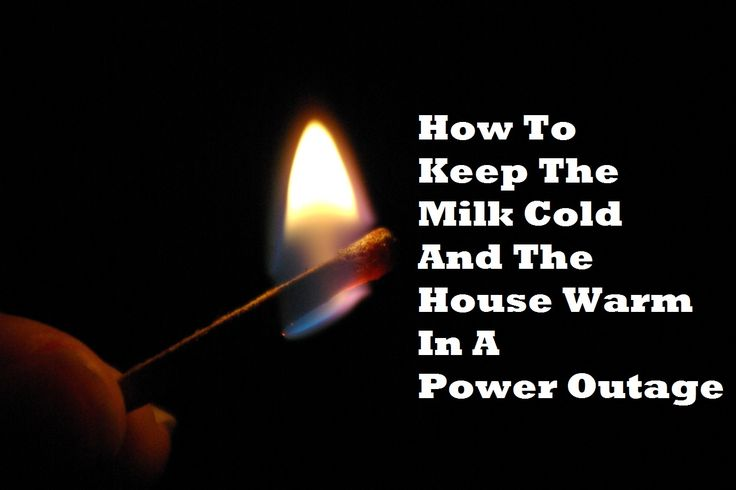 How To Keep The Milk Cold And The House Warm In A Power Outage http://www.offthegridnews.com/2014/03/24/how-to-keep-the-milk-cold-and-the-house-warm-in-a-power-outage/