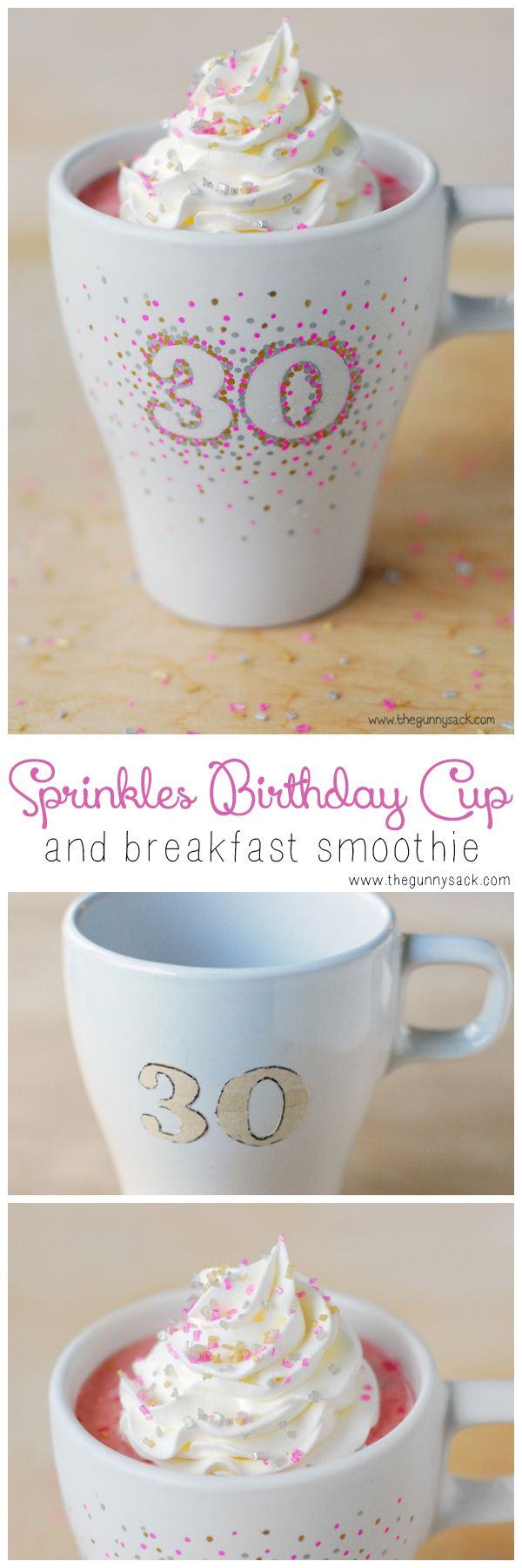 Start your birthday off right with a Sprinkles Birthday Cup and Breakfast Smoothie!