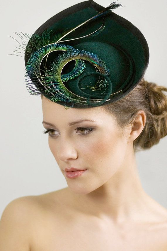 Ladies Hat for the Races Saucer Hat for Women by MaggieMowbrayHats