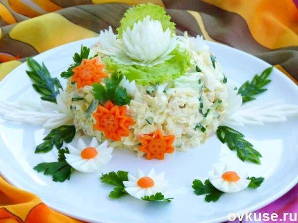 """Салат """"Моника""""- куриная грудка, пекинская капуста..."""