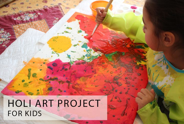 Holi Art Project for Kids - great way to celebrate this Hindu holiday with kids and art