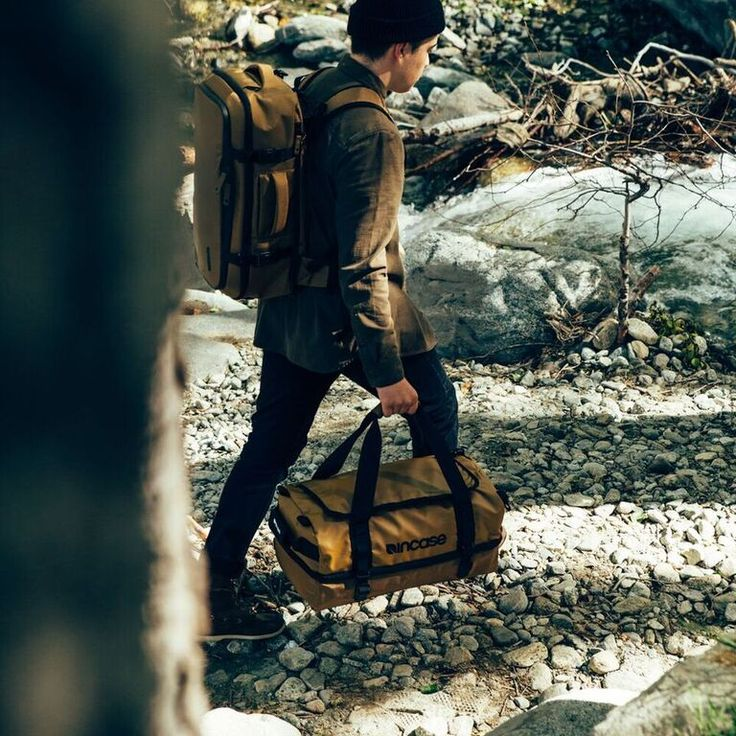 Incase TRACTO Collection Duffel and Split Duffel, made to endure adventure.