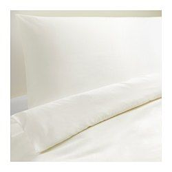 I know it seems crazy to be obsessed with white bedding when we have a filthy pup, but we will have a washer/dryer for cleaning/bleaching it and a clothesline to have the sun naturally bleach stains for us. Plus it is only $30 at IKEA so it can easily be replaced! (DVALA Duvet cover and pillowcases)