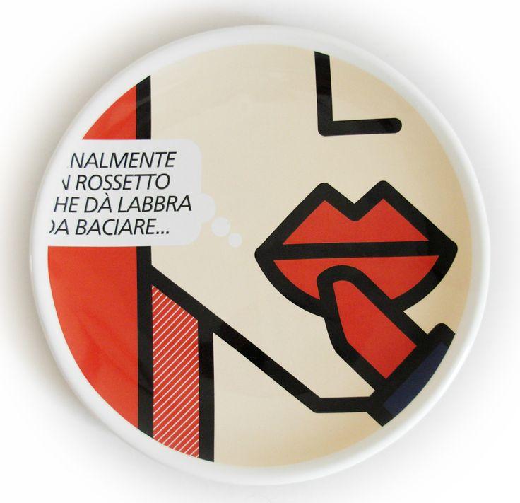 Piatto decorativo artigianale in maiolica - Diametro cm 25